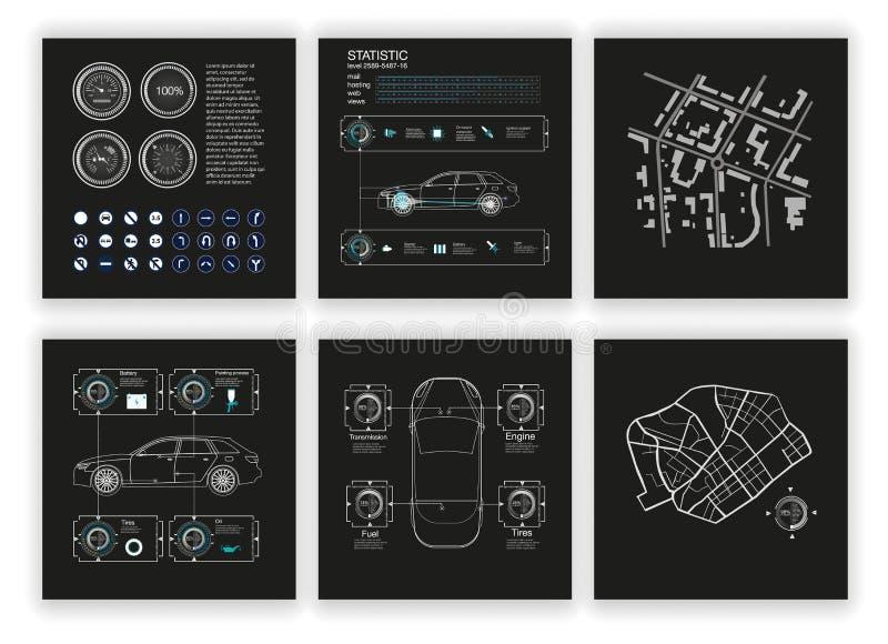 Virtuele grafische interface royalty-vrije illustratie