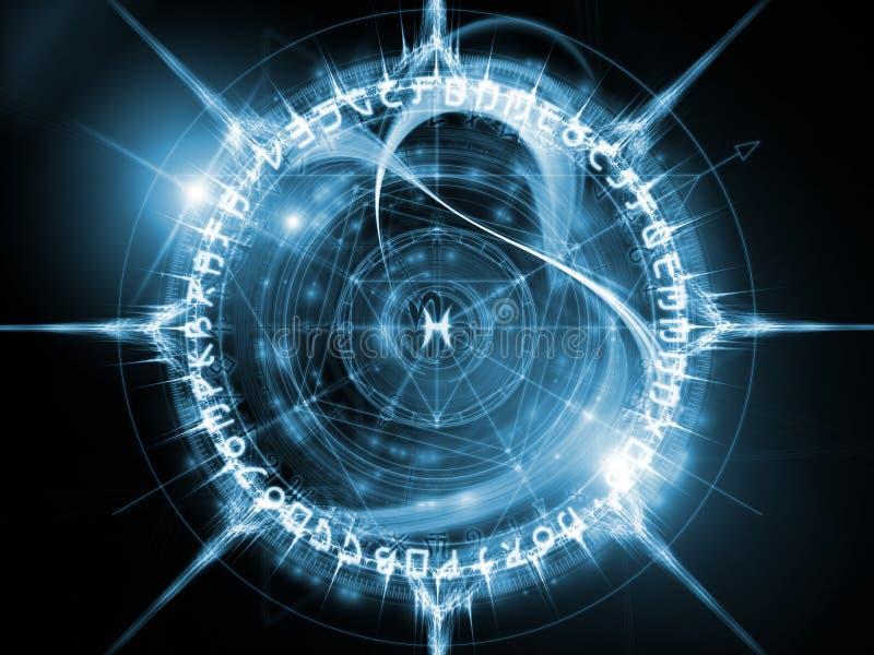 Virtuele Heilige Meetkunde stock illustratie