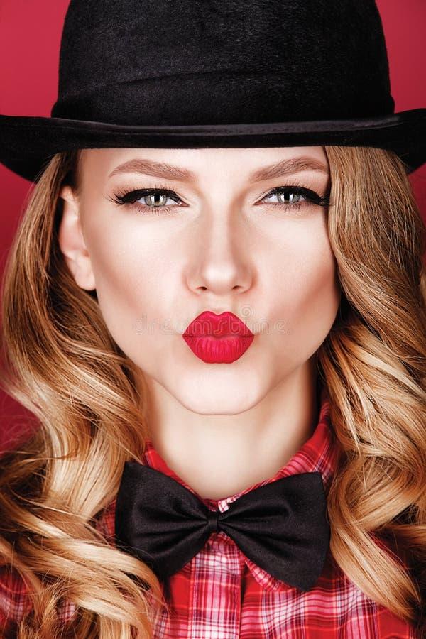 Virtuele kus Ik houd van u stock fotografie