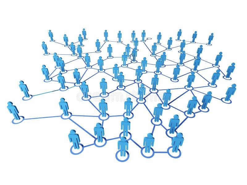 Virtuele netto aansluting stock illustratie