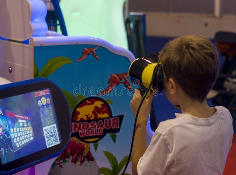 Virtuele simulator royalty-vrije stock foto's