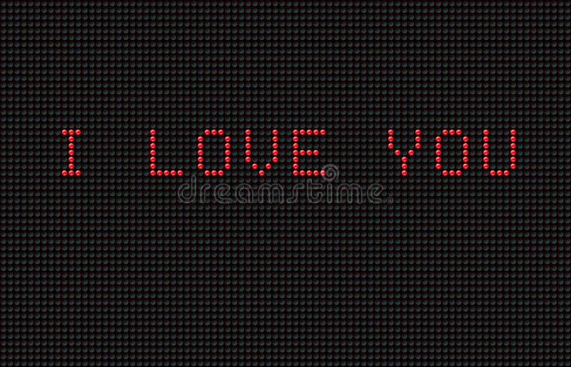 Virtuele Valentijnskaart vector illustratie