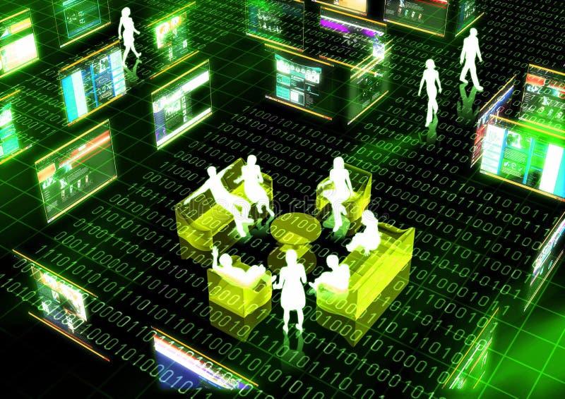Virtuele Vergadering royalty-vrije illustratie