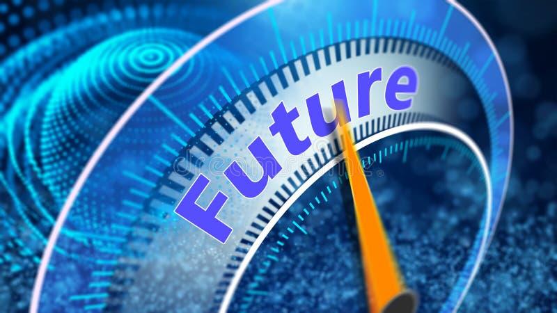 Virtuele visie van het toekomstige concept stock afbeelding