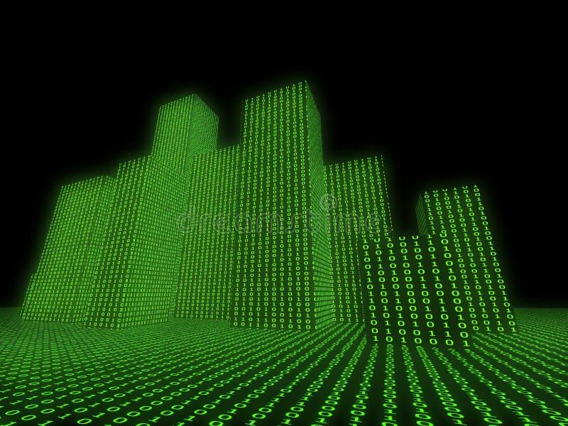 Virtuele wereld vector illustratie