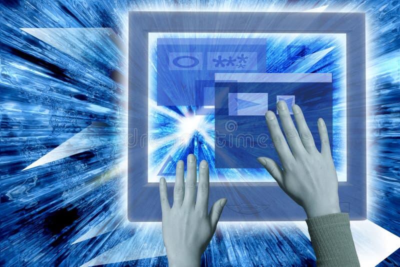 Download Virtuele Werkelijkheid stock foto. Afbeelding bestaande uit laptop - 27204