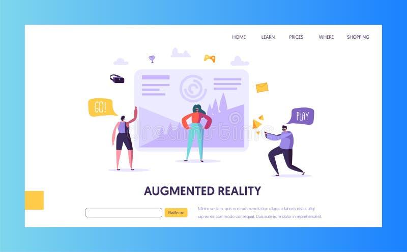 Virtuele Werkelijkheids Landende Pagina Vergrote werkelijkheid royalty-vrije illustratie