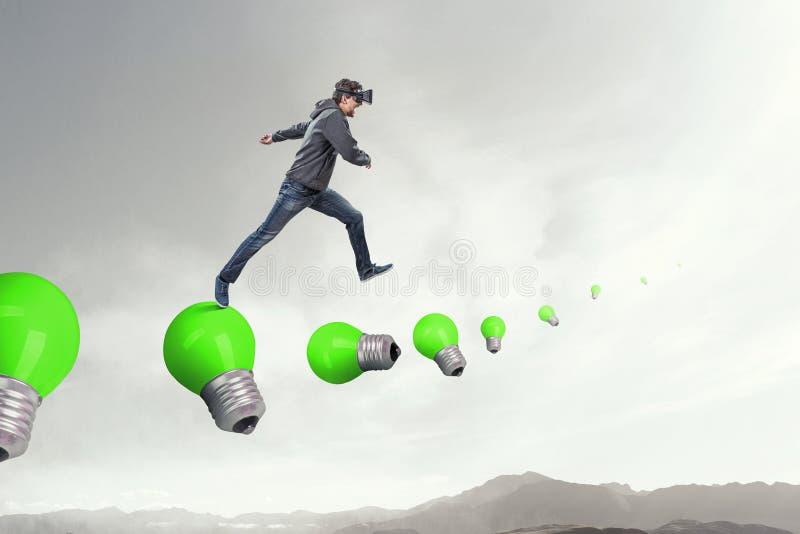 Virtuele werkelijkheidservaring Technologie?n van de toekomst vector illustratie