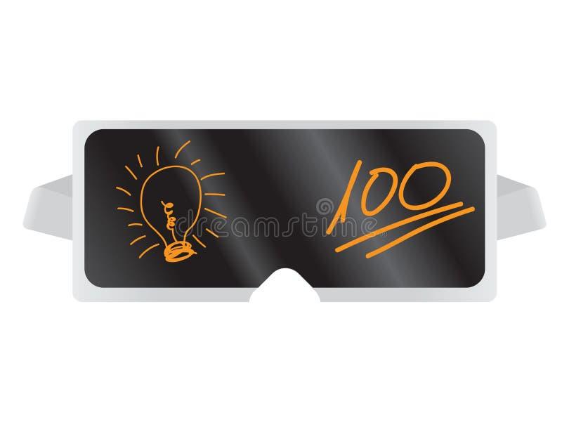 Virtuele werkelijkheidsglazen - uitstekend idee stock illustratie