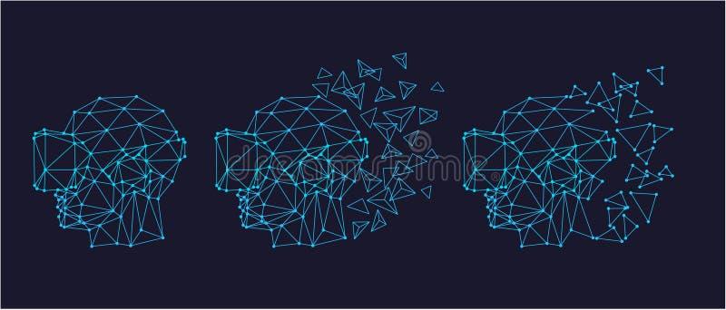 Virtuele werkelijkheidshoofdtelefoon vector illustratie