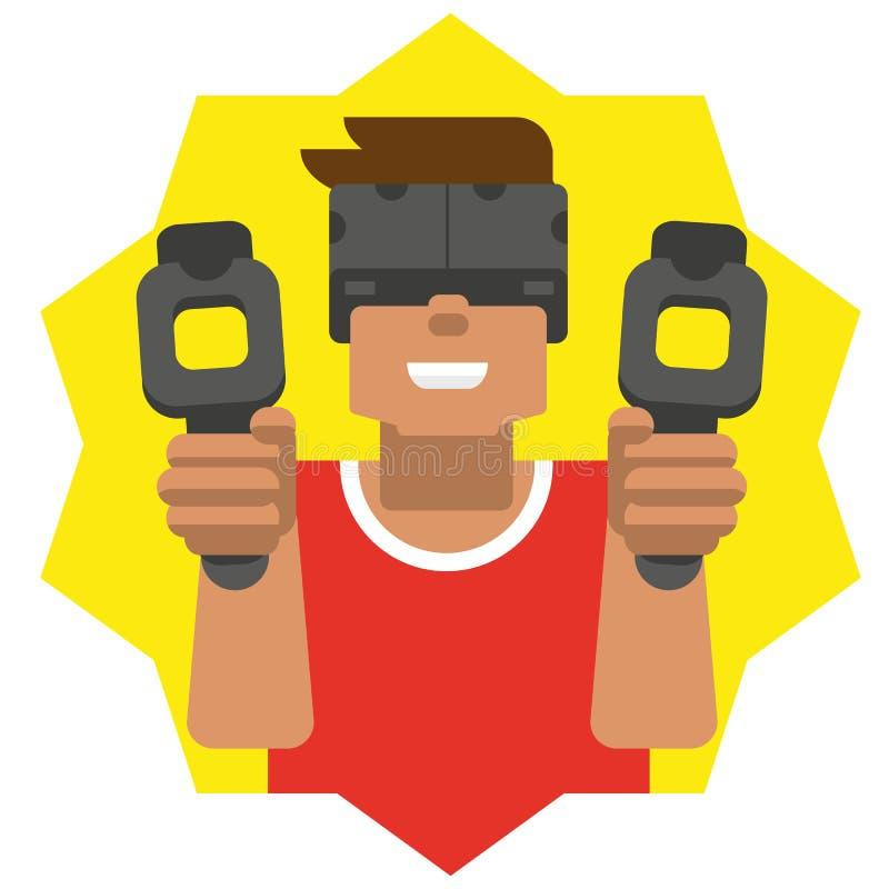 Virtuele werkelijkheidsmens royalty-vrije stock foto's
