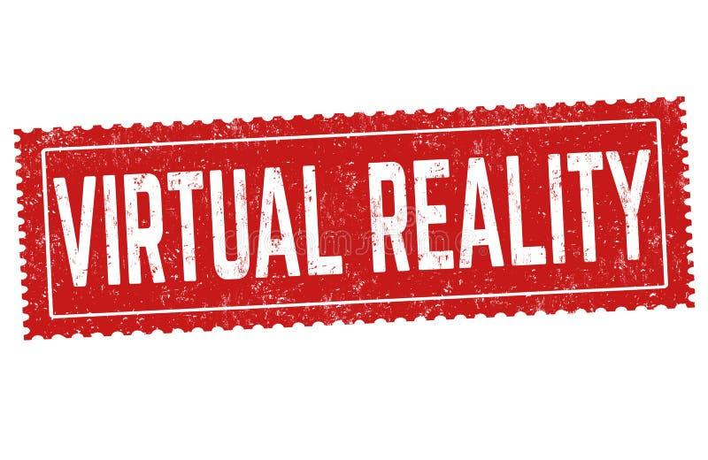 Virtuele werkelijkheidsteken of zegel vector illustratie