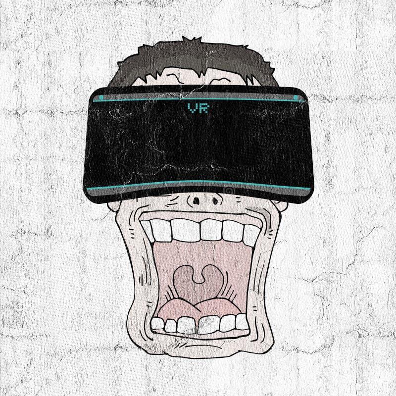 Virtuele werkelijkheidsuitdrukking vector illustratie