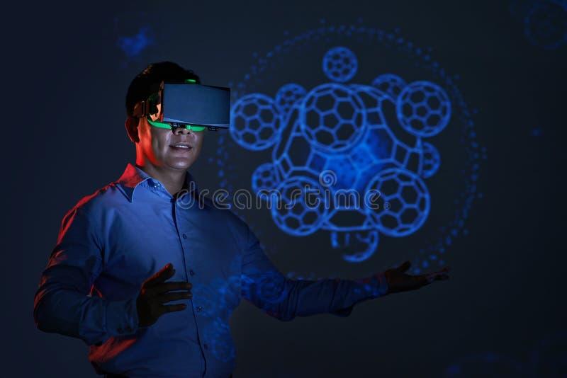 Virtuell verklighet arkivfoton