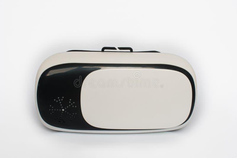 Virtuell verklighet VR, hjälm och, på en vit bakgrund fotografering för bildbyråer