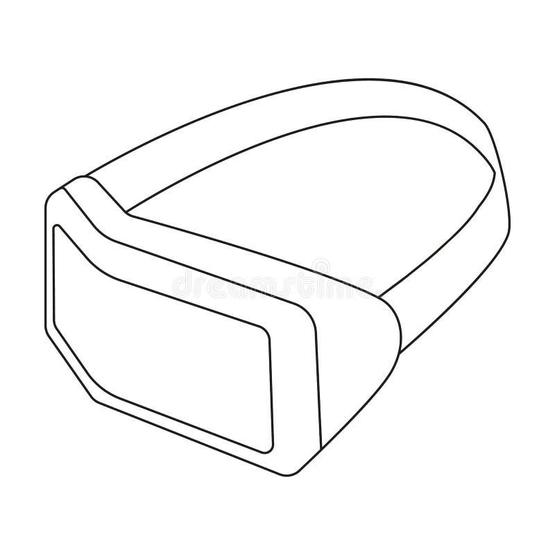 Virtuell Verklighethörlurar Med Mikrofonsymbol I översiktsstil Som ...