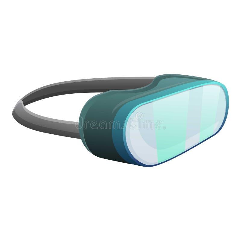 Virtuell verkligheth?rlurar med mikrofonsymbol, tecknad filmstil vektor illustrationer