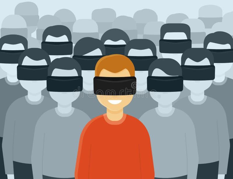 Virtuell verklighetutveckling royaltyfri illustrationer