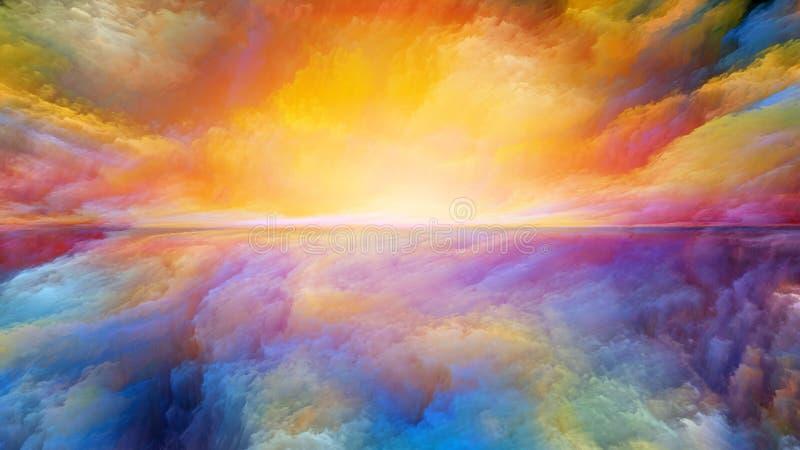 Virtuelle abstrakte Landschaft stock abbildung