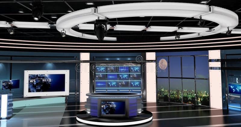 Virtuelle Fernsehnachrichten stellten 27 ein lizenzfreie abbildung