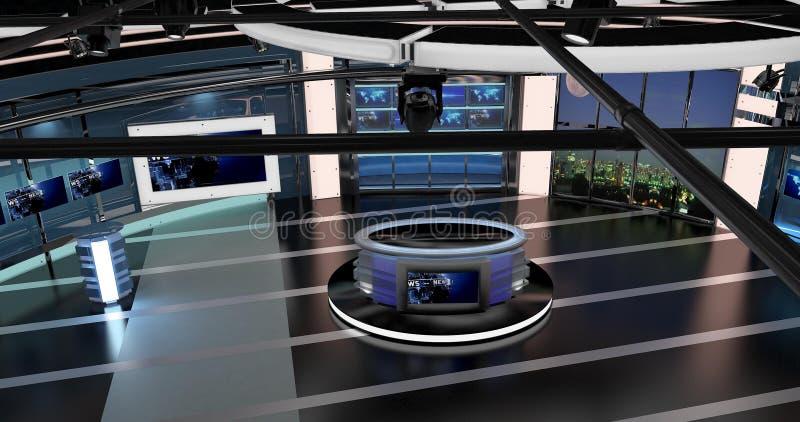 Virtuelle Fernsehnachrichten stellten 27 ein stock abbildung