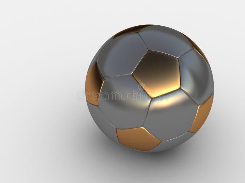 Virtuelle Fußballkugel lizenzfreie abbildung