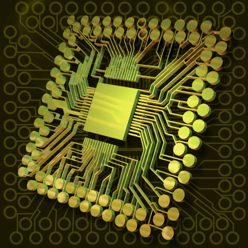 Virtuelle Gehirn-Leistung II vektor abbildung