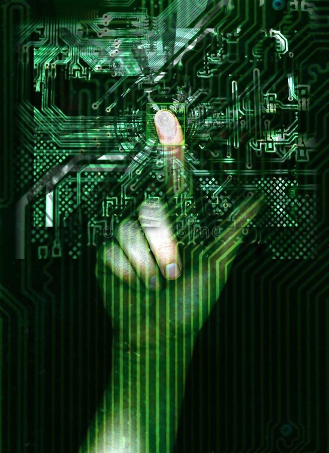 Virtuelle Identität lizenzfreie abbildung