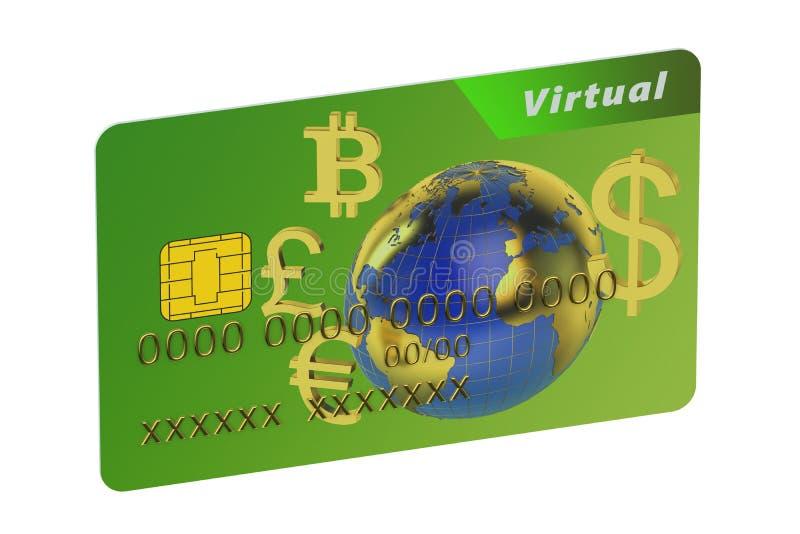 Virtuelle Kreditkarte lizenzfreie abbildung