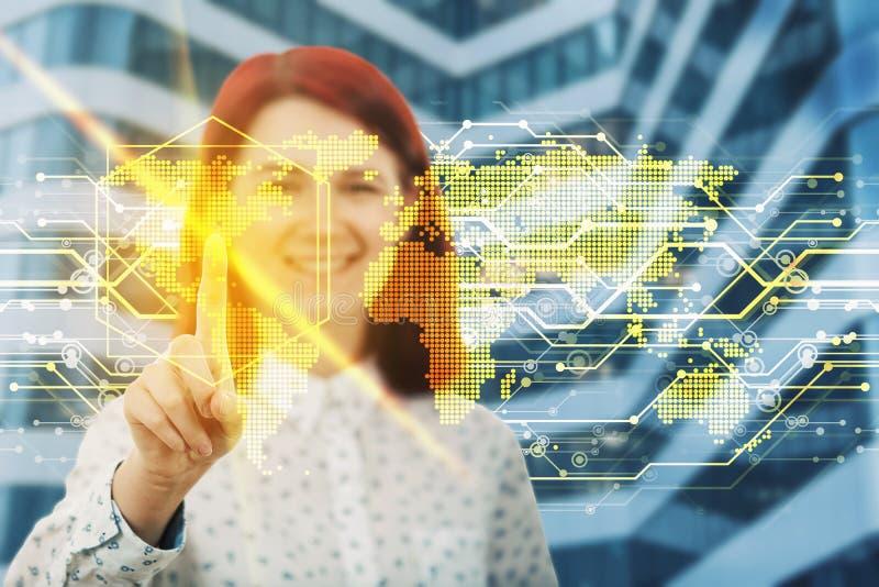 Virtuelle Reise lizenzfreies stockfoto