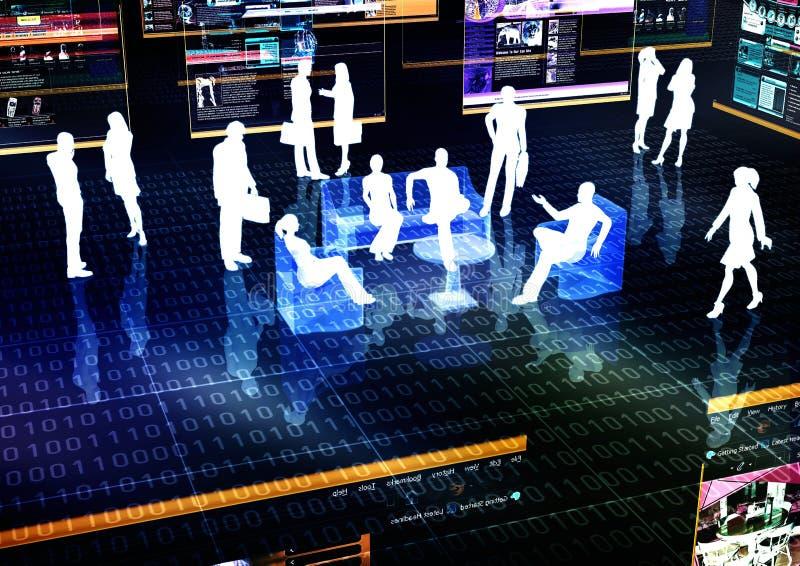 Virtuelle Sitzung 02 lizenzfreie abbildung
