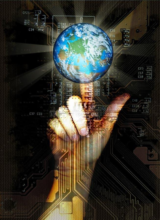 Virtuelle Welt lizenzfreie abbildung