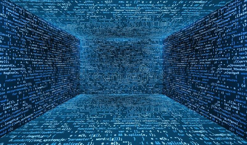 Virtueller abstrakter Fantasie Cyber-Wirklichkeitsraum lizenzfreie abbildung