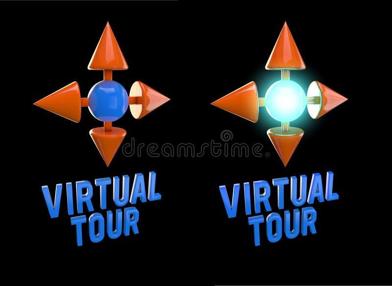 Virtueller Ausflug 3D der Ikone lizenzfreie abbildung