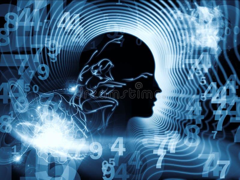 Virtueller Menschenverstand lizenzfreie abbildung