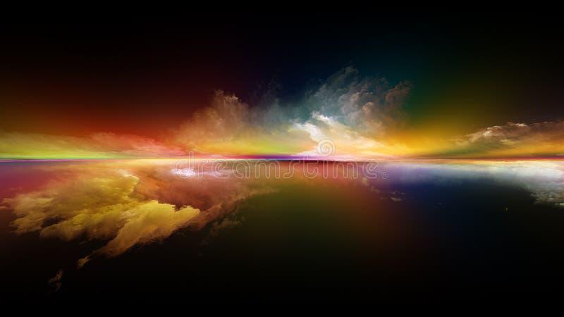 Virtueller Sonnenuntergang lizenzfreie abbildung
