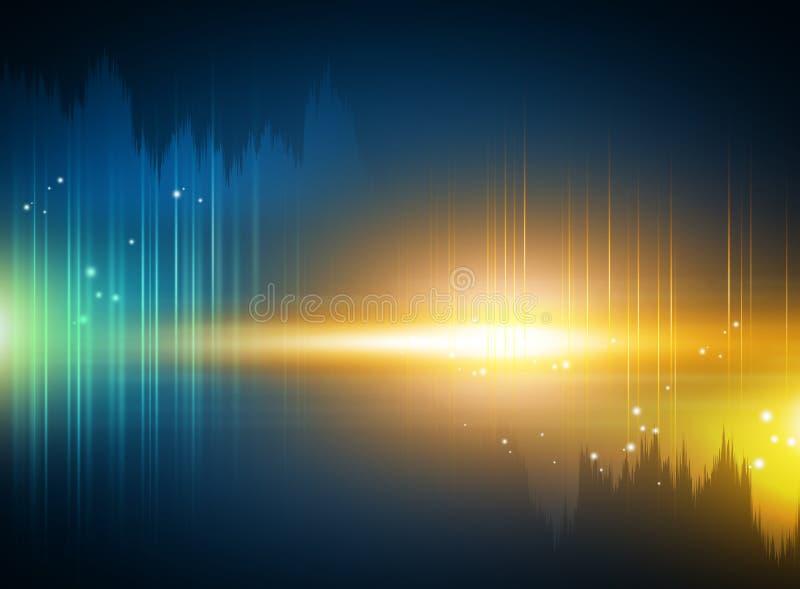 Virtueller Technologiehintergrund stock abbildung