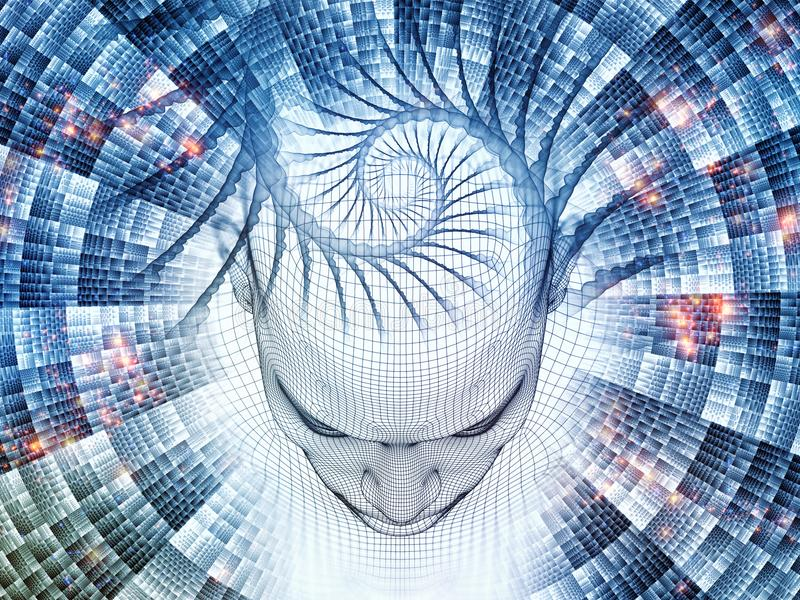 Virtueller Verstand vektor abbildung