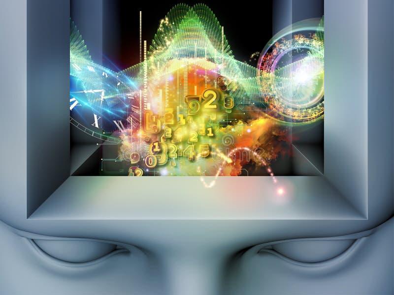 Virtueller Verstand lizenzfreie stockfotos