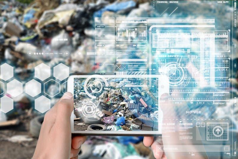Virtuelles Overlay für intelligente Geräte lizenzfreies stockbild