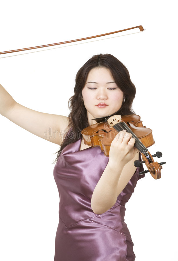 Virtuoso violinist royalty free stock image