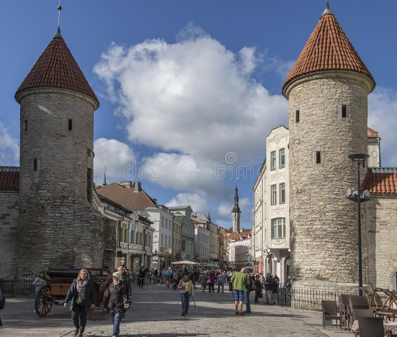 Viru Gate - Tallinn - Estonia royalty free stock photos