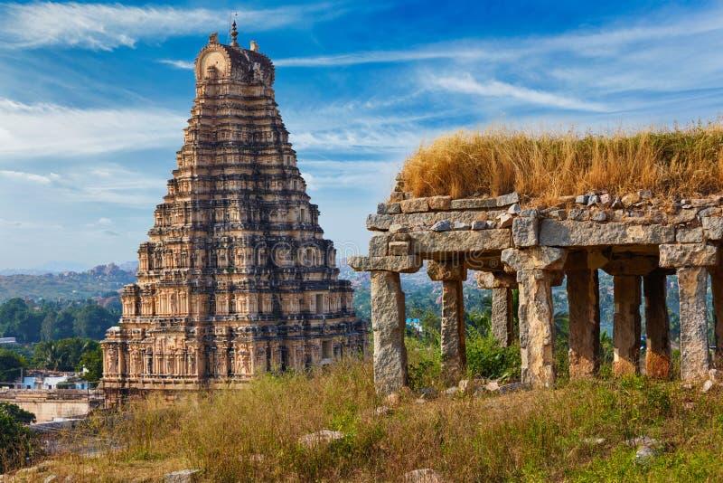 Virupaksha寺庙 hampi印度karnataka 免版税库存图片