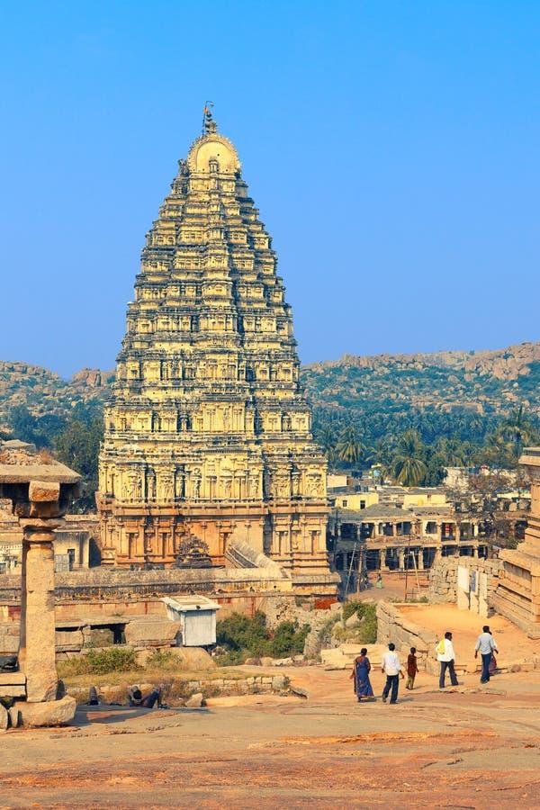 Virupaksha świątynia w Hampi zdjęcie royalty free