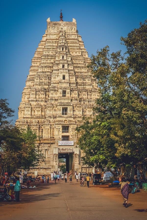 Virupaksha Tempel stockfotos