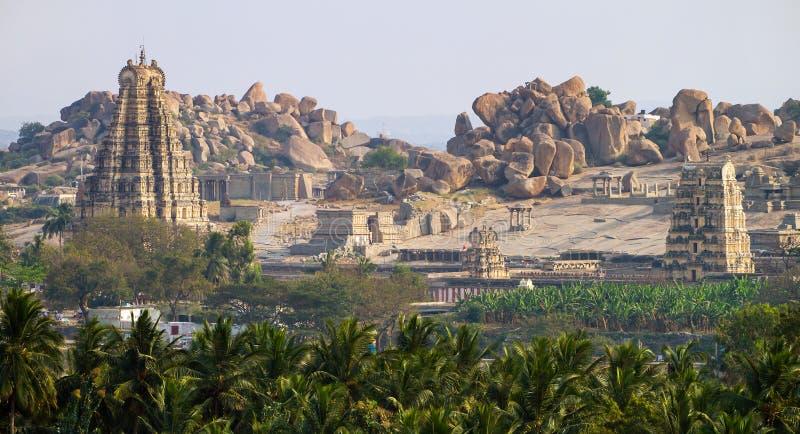 Virupaksha-Tempel in Hampi, Karnataka lizenzfreie stockfotografie