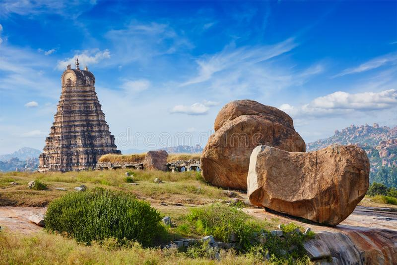 Virupaksha Tempel Hampi, Karnataka, Indien lizenzfreies stockbild