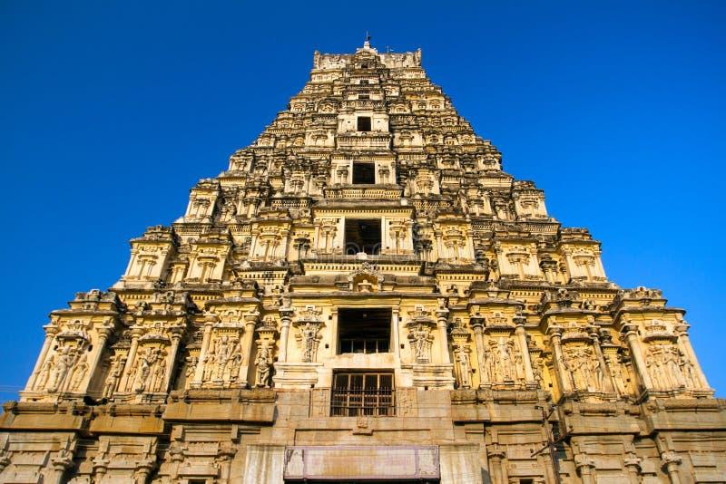 Virupaksha tempel i Hampi, Karnataka arkivfoton