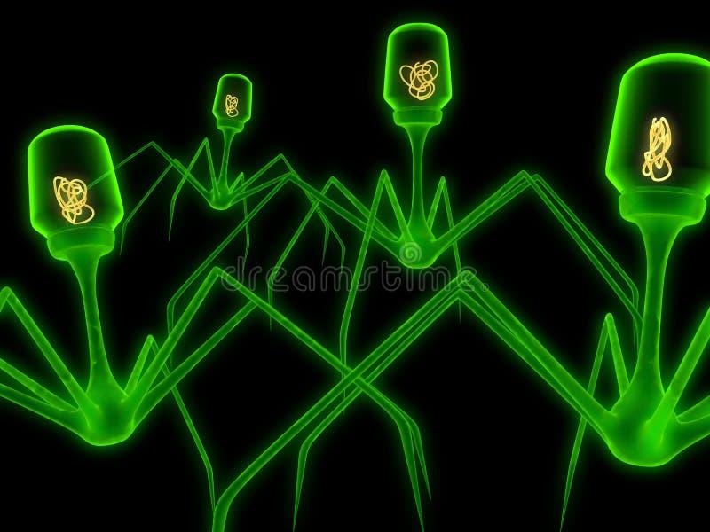 Virus vector illustratie