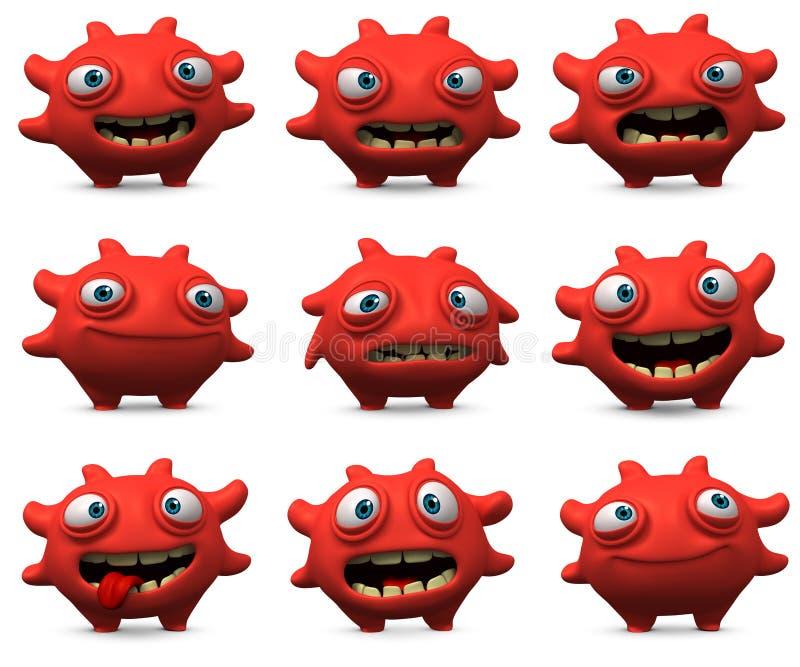 virus 3d stock illustrationer